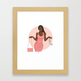 Shoes or Bags? Framed Art Print