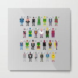 Pixel Supervillain Alphabet Metal Print