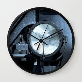 Electrical Lamp Headlight Of A Vintage Locomotive Wall Clock