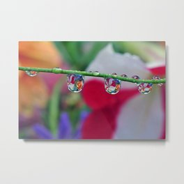 garden in a water drop Metal Print