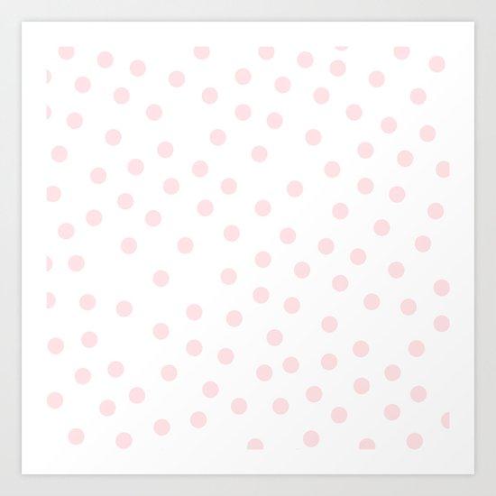 Simply Dots in Pink Flamingo Art Print