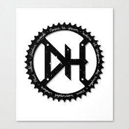 Downhill chainring Canvas Print