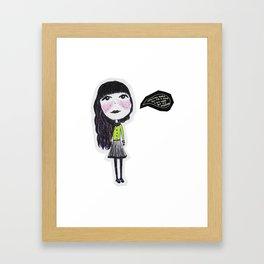 Easy Goin' Framed Art Print