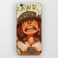 viking iPhone & iPod Skins featuring Viking by DustyLeaves