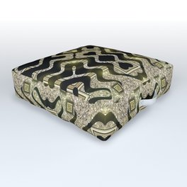 Tribal Gold Glam Outdoor Floor Cushion