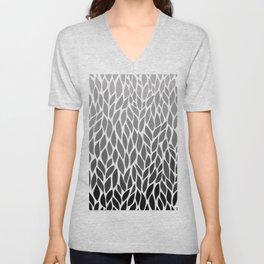 Grey Ombre Unisex V-Neck