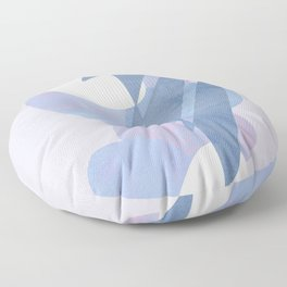Minimal pebbles balance 1 blue and pink Floor Pillow