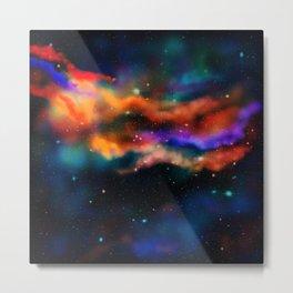 Galactic Nebula (Dark Version) Metal Print
