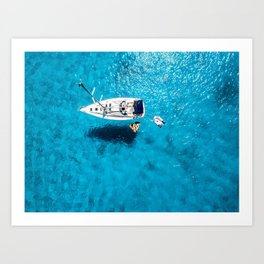 Blue Spain Art Print