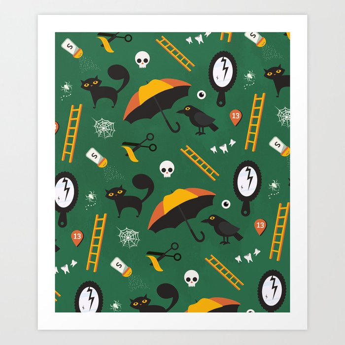 The Usual Suspects (Patterns Please) Art Print