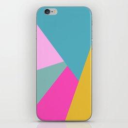 Bold Color Block Design iPhone Skin