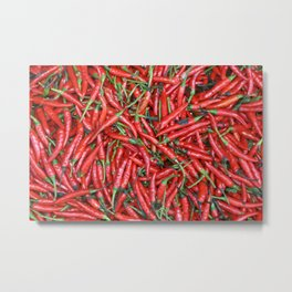 Red hot Chillies background Metal Print