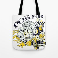 poker Tote Bags featuring Poker face by Tshirt-Factory