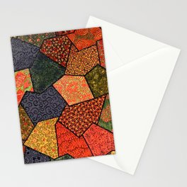 Japanese colorful quilt patchwork Stationery Cards