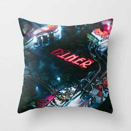 Flipper arcade bar Throw Pillow
