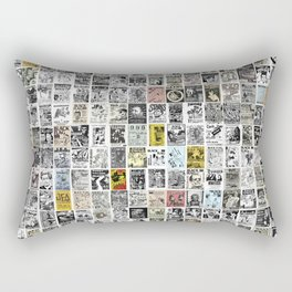 1980's Vintage Punk Flyers Rectangular Pillow