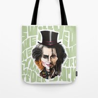 johnny depp Tote Bags featuring Johnny Depp by Owen Ballesteros