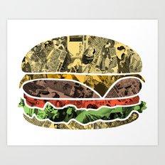 The Rising Burger Art Print