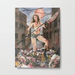 Pamela Horton's Zombie Slayer Metal Print