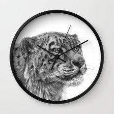 Snow Leopard G095 Wall Clock