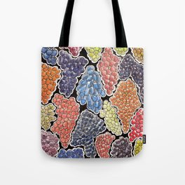 Grapes for wine lovers, gastronomy and restaurants Tote Bag