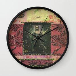 Kuan Yin + Leaves Wall Clock