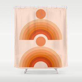 Abstraction_SUN_Rainbow_Minimalism_005 Shower Curtain