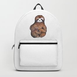 sloth painting nails Backpack