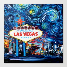 van Gogh Never Saw Vegas Canvas Print