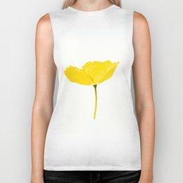 Yellow Poppy White Background #decor #society6 #buyart Biker Tank