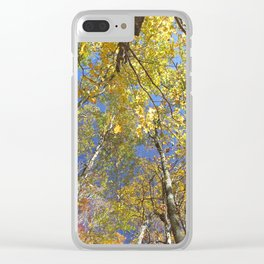 Brightly colored Autumn tree tops Clear iPhone Case