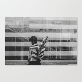 Carry Freedom in Black Canvas Print