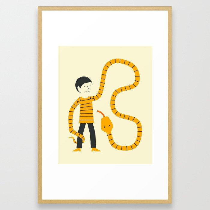 SWEATER SNAKE Framed Art Print