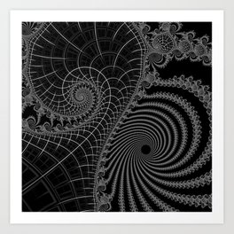 Peaks And Troughs 2 Inverted Art Print