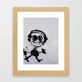 Musik Stickman Framed Art Print