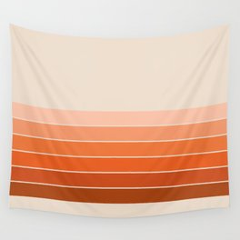 Red Rock Spring Stripes Wall Tapestry