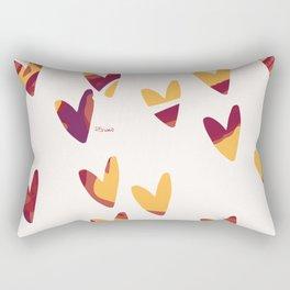 Pretty swirl hearts - magenta, yellow, fuchsia Rectangular Pillow