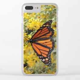 Monarch on Rubber Rabbitbrush Clear iPhone Case