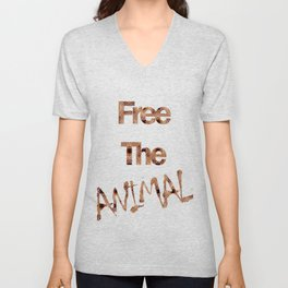FREE THE ANIMAL - ONÇA Unisex V-Neck