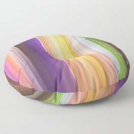 Different soft coloured striped abstract Floor Pillow