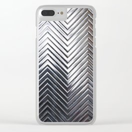 Silver Chevron Clear iPhone Case