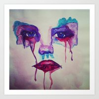 watercolor emotion Art Print
