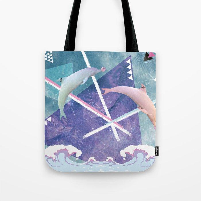 bubblegum.dolphins Tote Bag