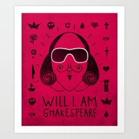 shakespeare Art Prints featuring Will.i.am Shakespeare by Farnell