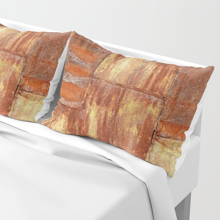 Rusty metal wall surface Pillow Sham