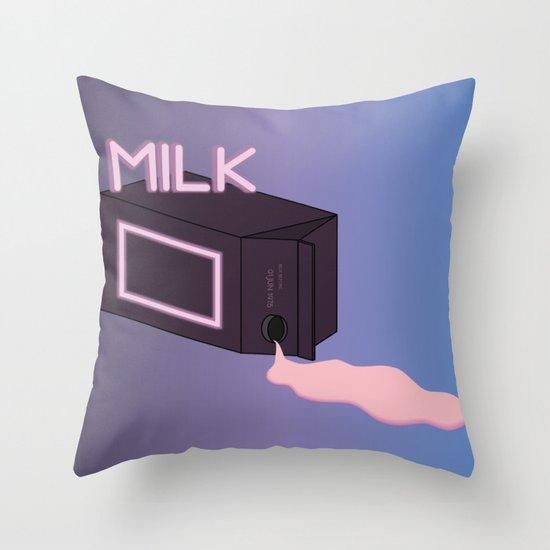 M I L K Throw Pillow
