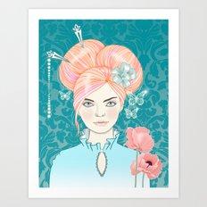 pink poppies Art Print
