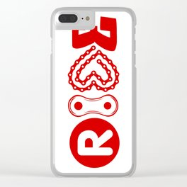 RIDE #biking#MTB Clear iPhone Case