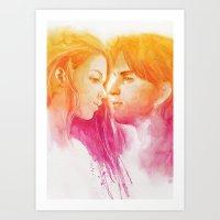 valentine Art Prints featuring Valentine by Aurora Wienhold