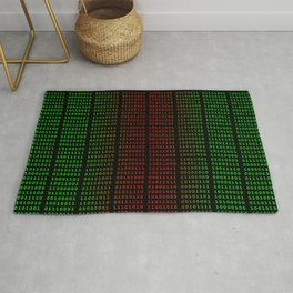 Binary Green and Red With Spaces Rug